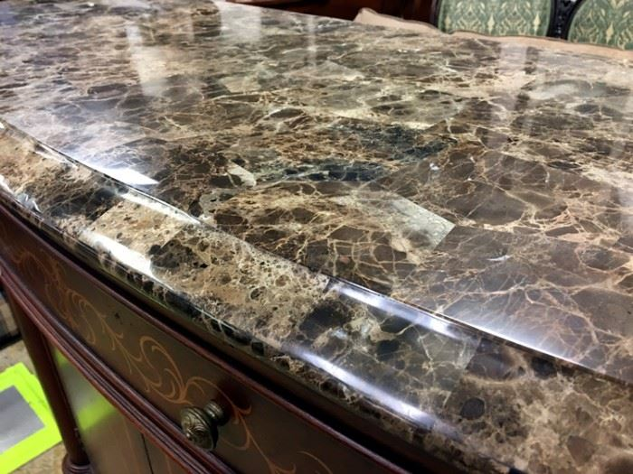 Thomasville Sideboard marble top