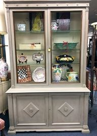 Wire Front Painted Cabinet