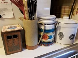 Kitchen decor, containers