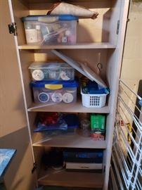 Ribbon, crafting items, storage cabinets