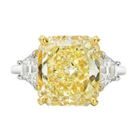 GIA 6CT Fancy Yellow Diamond Ring