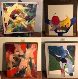 "Large MCM oil paintings 42""x48"""