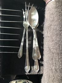 """81 pieces of Reed & Barton """"Dancing Flowers"""" sterling silver flatware. Detailed piece count in the description."""