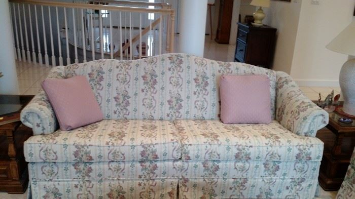 Beautiful Broyhill upholstered Sofa, has matching Loveseat