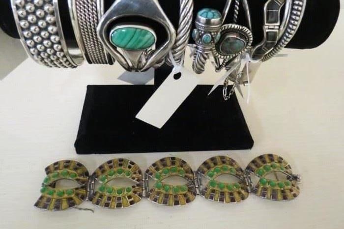 Mlargot de Taxco 925 sterling silver bracelet.
