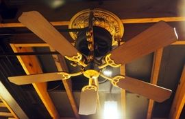 """Bodin Electric, Quality In Motion, Belt Driven Ceiling Fan System, Includes 6 5-Blade(48"""") Fans And Belts"""