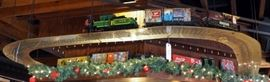 Lehmann Electric Model Train Includes Engine, Coal Car, Freight Cars And Caboose, Qty 11 Cars, Includes Hanging Track