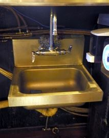 "Stainless Steel Hand Sink With Bar Faucet, 12"" x 15"""