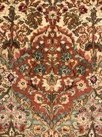 "Karastan ""Empress Kirman"" 100% wool area rug, measures 8'8"" x 12', very good condition"
