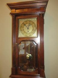 SLIGH WALL CLOCK CHERRY CASE