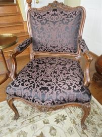 FRENCH OPEN ARM CHAIR CUSTOM FABRIC