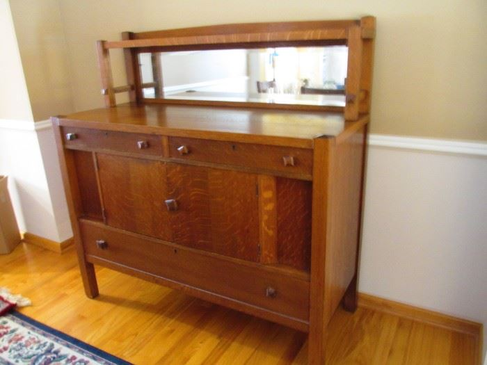 Vintage Art Deco Buffet with mirror