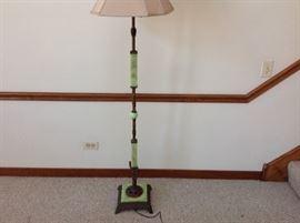 Green agate floor lamp