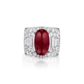 Ruby Diamond Ring Unheated