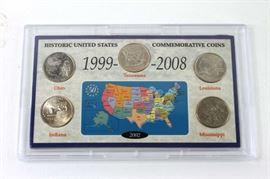 Historic United States commemorative coins 2002 state quarters