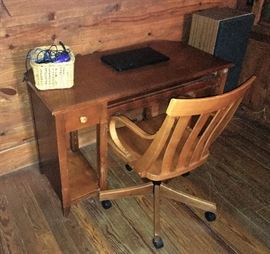 DESK AND ANTIQUE CHAIR
