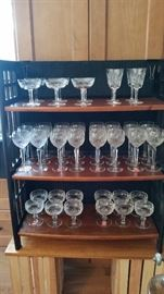 "Waterford ""Lismore"" & ""Colleen"" stemware."