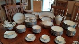 "Service for 12 Rosenthaul ""Bettina Elegance"" china set with serving pieces."