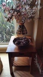 Mission oak side table.