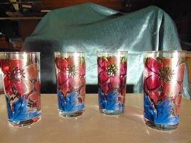 4 Vintage Glasses