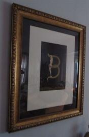 Erte' signed serigraph alphabet series