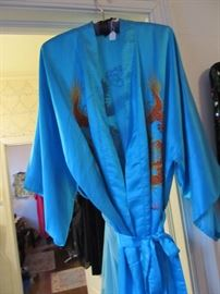 Ladies Chinese Silk Dragon Robe Purchased in China See Label