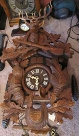 German Black Forest Highly Carved Cuckoo Clock 20th. c.