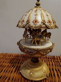 The Faberge Imperial Musical Horse Carousel Egg - Franklin Mint