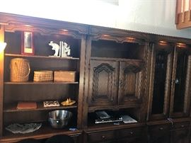 German made hand crafted 7 piece wall unit