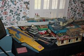 Old games and models and toys