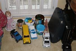 Kid toys and trucks