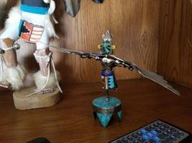 Sterling Silver Kachina Dancer figurine