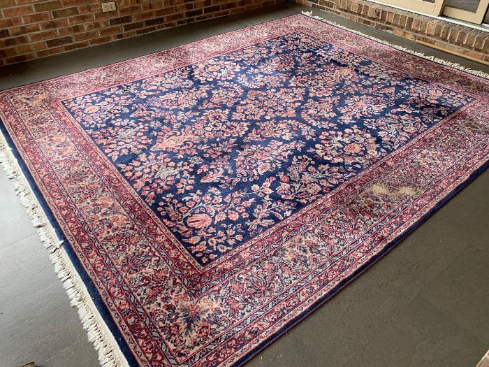 Karastan 8 x 10 100% Wool Navy Sarouk Rug:  $700 (compare to $1200+ elsewhere) OBO