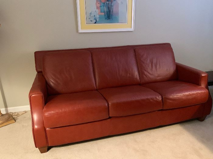 Two matching leather sofas.  Divani Chateau D'Ax. Pristine condition for both.  Originally $3K a piece.  $700 each.
