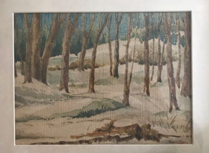 20th Century Forest Scene