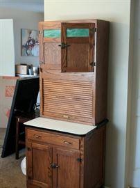 Restored half-Hoosier cabinet.