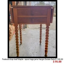 Federal drop leaf Maple table