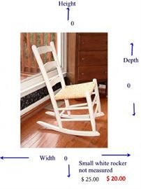 small white rocker