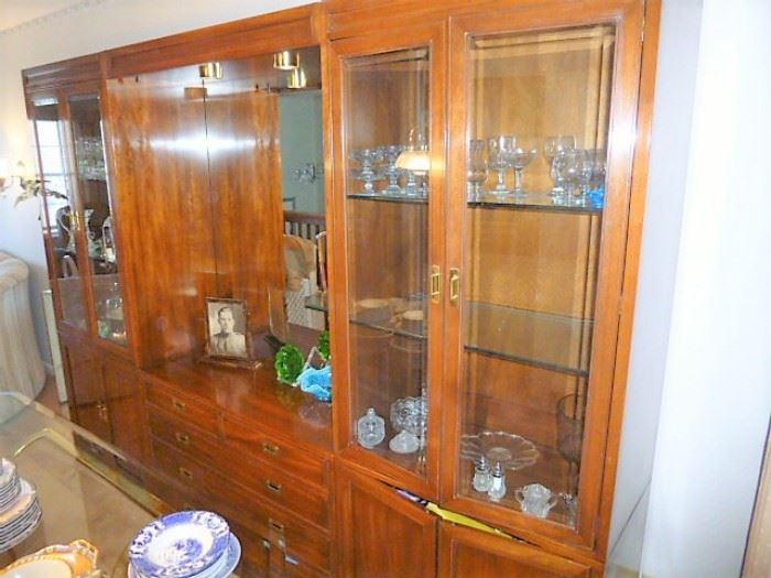 3pc China Hutch - $350 FOR THE ENTIRE UNIT - Line up a friend and a truck, this is literally 10% of original cost and its VERY CLEAN! This price wouldn't even purchase the super thick, glass shelves!