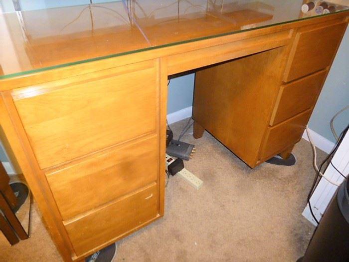 Super Sturdy Desk/Hobby Center w/Glass Top $150!