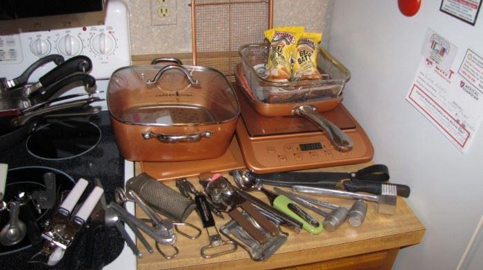 Copper Chef set, like new!