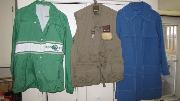 Vintage jackets - coats - fishing vest. Philadelphia Eagles NFL jacket - pre 1980's
