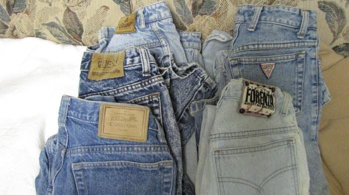 Vintage 1980's ladies designer jeans. TINY !