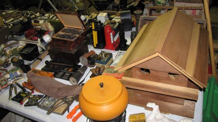 More vintage reloading, cedar birdhouse.
