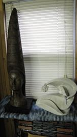 Two vintage sculptures.