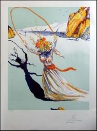 3. Salvador Dali Transcendent Passage Lithograph