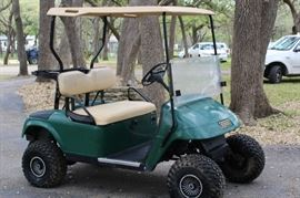 2. EZGO Electric Golf Cart