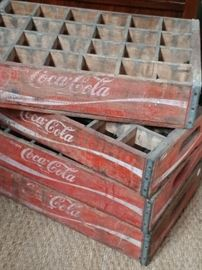 Coca cola bottle wood holder