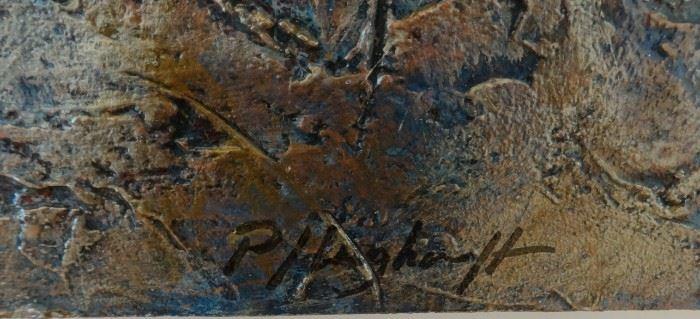 Signature of the artist, Mark Pflughoeft.