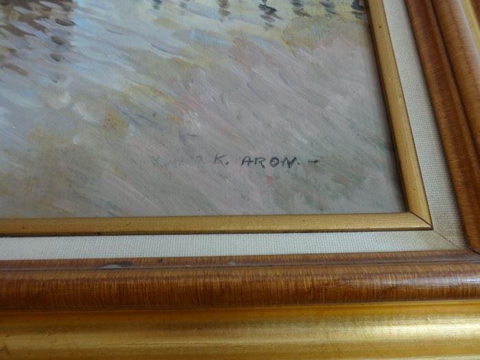 Artist signature K. Aron.
